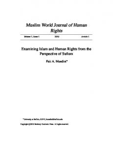 Muslim World Journal of Human Rights