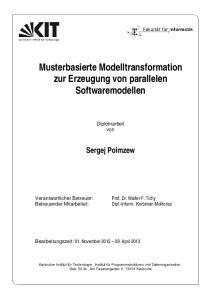 Musterbasierte Modelltransformation zur Erzeugung von parallelen Softwaremodellen