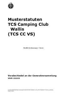 Musterstatuten TCS Camping Club Wallis (TCS CC VS)