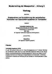Mustervertrag der Messpartner Anhang 5. Vertrag. betreffend