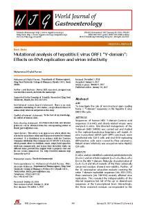 Mutational analysis of hepatitis E virus ORF1