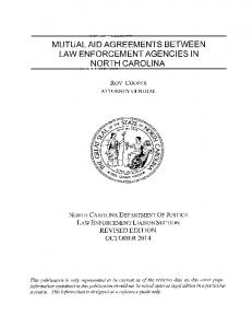 MUTUAL AID AGREEMENTS BETWEEN LAW ENFORCEMENT AGENCIES IN NORTH CAROLINA