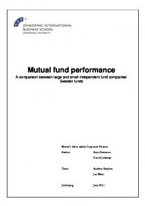 Mutual fund performance