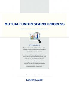 MUTUAL FUND RESEARCH PROCESS