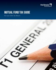 MUTUAL FUND TAX GUIDE. For your 2014 Tax Return