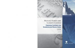 Mutual Funds and Climate Change