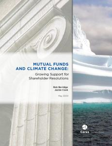 Mutual Funds and Climate Change: