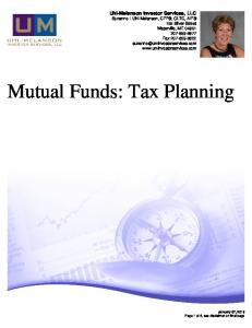 Mutual Funds: Tax Planning