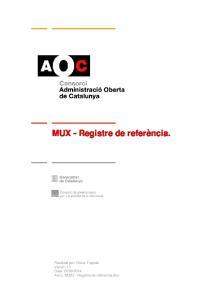 MUX - Registre de referència