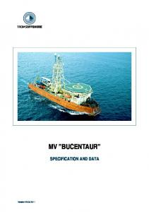 MV BUCENTAUR SPECIFICATION AND DATA