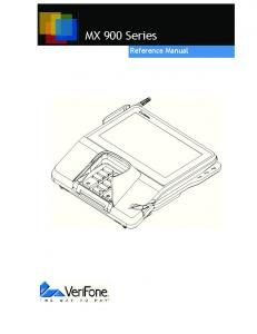 MX 900 Series. Reference Manual