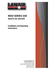 MXD SERIES 300 WASTE OIL HEATER