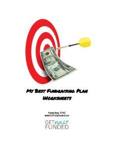 My Best Fundraising Plan Worksheets