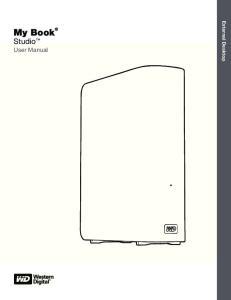 My Book Studio User Manual. External Desktop