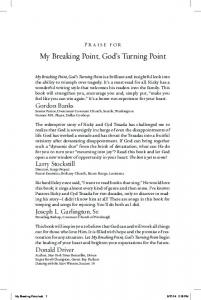 My Breaking Point, God s Turning Point