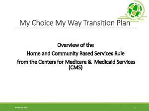 My Choice My Way Transition Plan