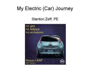 My Electric (Car) Journey. Stanton Zeff, PE