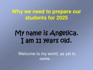 My name is Angelica. I am 11 years old