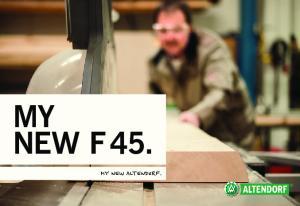 MY NEW F 45. MY NEW ALTENDORF