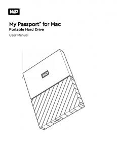My Passport Portable Hard Drive. User Manual. for Mac