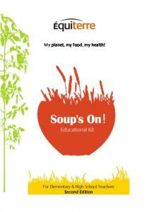 My planet, my food, my health!