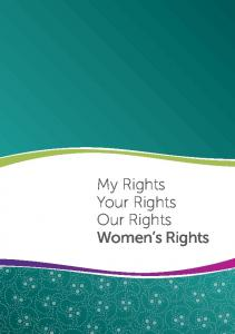 My Rights Your Rights Our Rights Women s Rights