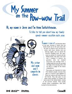 My Summer. Pow-wow Trail Hi, my name is Jesse and I'm from Saskatchewan. I'd like to tell you about how my family spends summer vacation each year