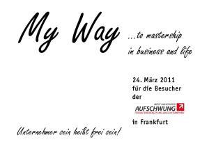 My Way...to mastership