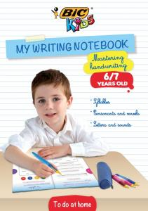 MY WRITING NOTEBOOK To do at home