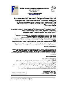 Myalgic Encephalomyelitis and Fibromyalgia