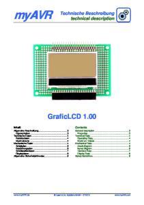 myavr GraficLCD 1.00 Technische Beschreibung technical description