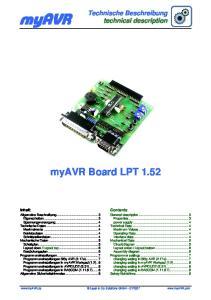 myavr myavr Board LPT 1.52 Technische Beschreibung technical description
