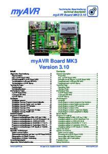 myavr myavr Board MK3 Version 3.10 Technische Beschreibung technical description myavr Board MK3 3.10