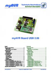 myavr myavr Board USB 2.06 Technische Beschreibung technical description