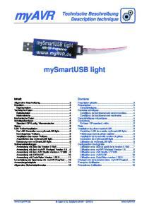 myavr mysmartusb light Technische Beschreibung Description technique