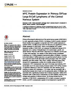 MYC Protein Expression in Primary Diffuse Large B-Cell Lymphoma of the Central Nervous System