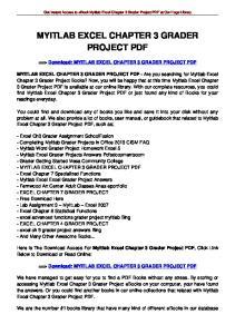 MYITLAB EXCEL CHAPTER 3 GRADER PROJECT PDF