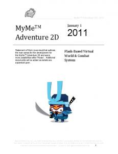 MyMe TM Adventure 2D 2011
