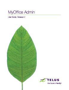 MyOffice Admin. User Guide Release 4.1