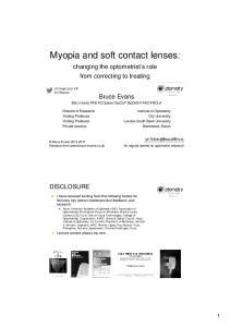 Myopia and soft contact lenses:
