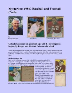 Mysterious 1956? Baseball and Football Cards
