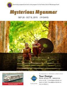 Mysterious Myanmar. Tour Design Phone: