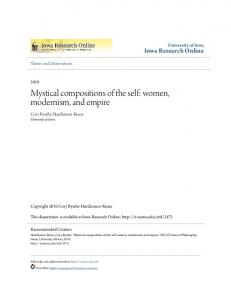 Mystical compositions of the self: women, modernism, and empire