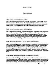 MYTH VS. FACT. Native American
