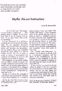 Myths About Instruction