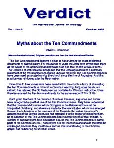 Myths about the Ten Commandments