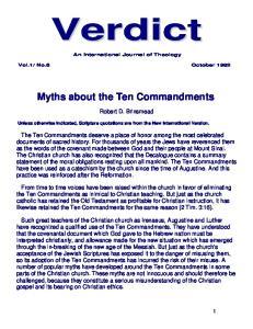 Myths about the Ten Commandments