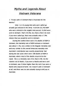 Myths and Legends About Vietnam Veterans