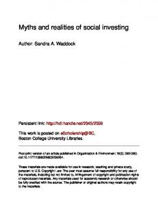 Myths and realities of social investing