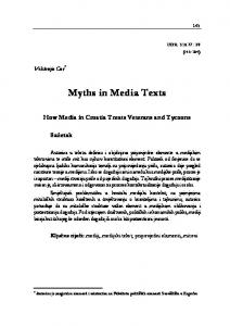Myths in Media Texts